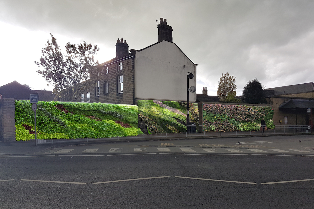 Otley Bus Station Living Wall