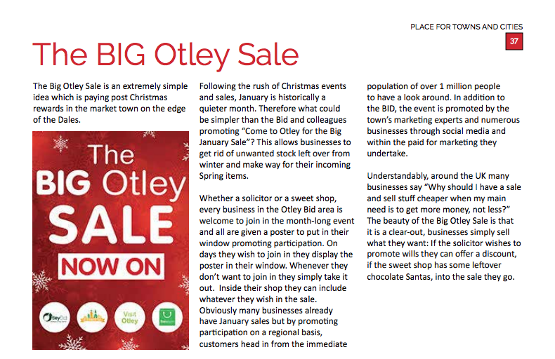 Otley Bid Otley Sale, London Exhibtion