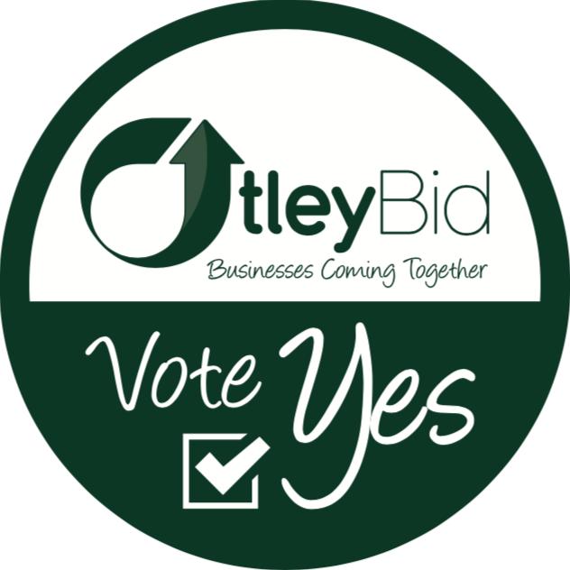 Otley BID Vote Yes Sticker 2018