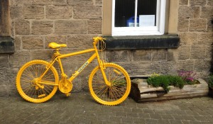 Yellow bike outside the Courthouse