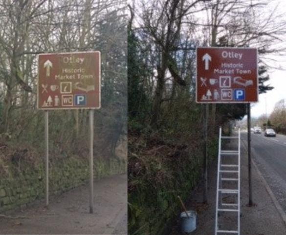 OTLEY BID CLEAN UP Otley Sign