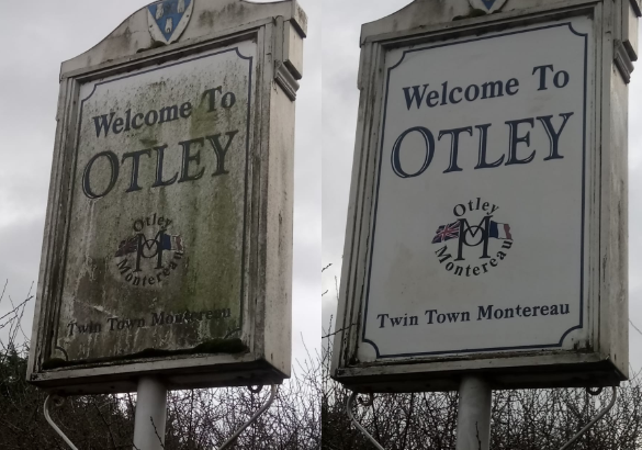 OTLEY BID CLEAN UP Welcome to Otley sign