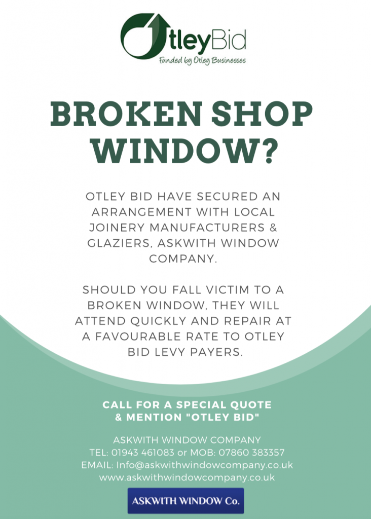 Otley BID Broken Window Poster