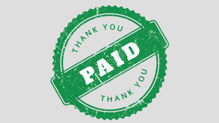 PAID THANK YOU